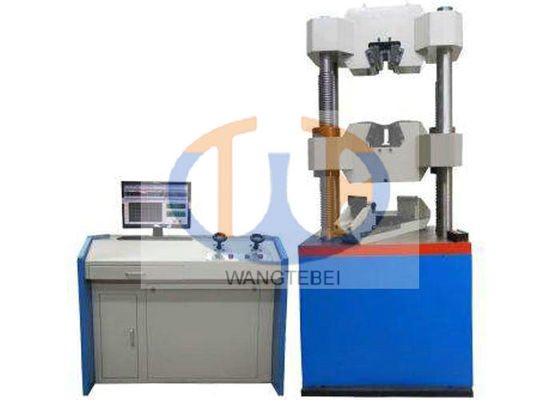 Clip On Extensometer Hydraulic Tensile Testing Machine Adopting Remote Controller