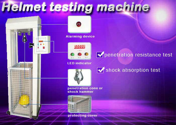 Safety Helmet Shock Absorption And Penetration Tester , Helmet Lateral Rigidity Tester